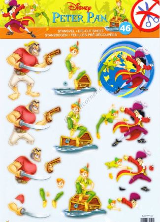 Disney Peter Pan Die Cut 3d Decoupage Sheet